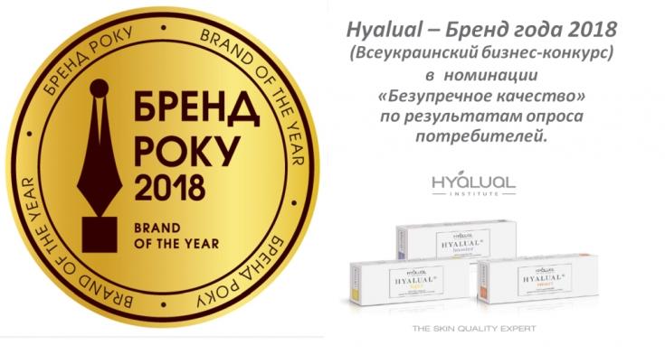 «Бренд года» Hyalual благодарен потребителям за их выбор