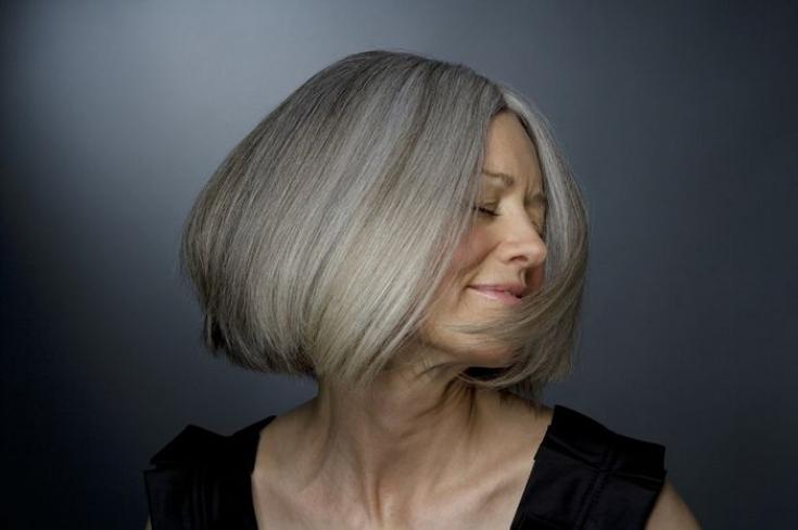 Окрашивание седых волос в домашних условиях.