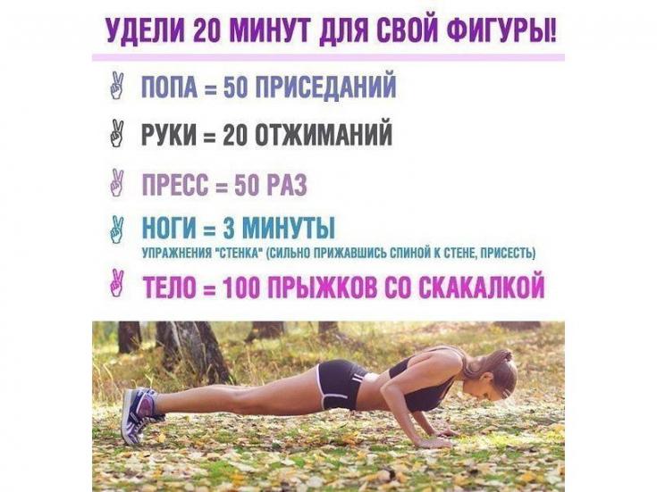Комплекс Упражнений Для Похудении. Тренировки для похудения дома без прыжков и без инвентаря (для девушек): план на 3 дня